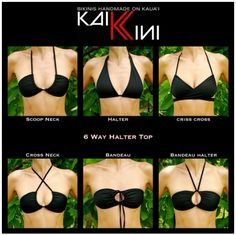 different ways to wear a bikini... awesome!