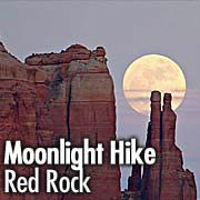 a great event & a uncrowded little park. Moonlight Hike @ Red Rock Sedona, AZ