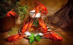 Обои морепродукты, раков, пиво на рабочий стол - картинки с раздела Вкусно