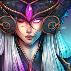 Syndra by simoneferriero on DeviantArt Fantasy Characters, Female Characters, Fictional Characters, Character Concept, Concept Art, League Of Legends Game, Z Arts, Overwatch, Wallpaper
