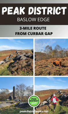 Baslow Edge short walk in the White Peaks area of the Peak District | Baslow Edge walk in Derbyshire | Beautiful walks in England | Walks with Highland Cattle on route | Best short walks in the Peak District | #walks