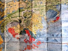 #Art and #Cartography #India #China #Manuscript #Japanese #Map 19th