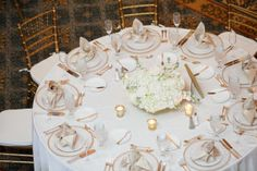 white wedding reception table | Plan It Event Design & Management | Orlando Wedding Planner | Photo by Victoria Angela Photography