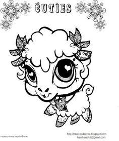 Creative Cuties Lamb Coloing Page
