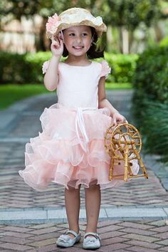 Pink Ball Gown One-shoulder Flower Girl Dress ted1072 - SILHOUETTE: Ball Gown; FABRIC: Tulle; EMBELLISHMENTS: Sash , Lace; LENGTH: Knee Length - Price: 64.3600 - Link: http://www.theeveningdresses.com/pink-ball-gown-one-shoulder-flower-girl-dress-ted1072.html