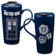 Doctor Who 20 oz. Heat Reactive Ceramic Travel Mug Don't leave home without your favorite beverage and an iteration of the TARDIS!
