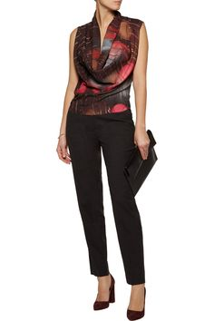 Shop on-sale Maison Margiela Draped printed crepe de chine and stretch-jersey bodysuit. Browse other discount designer Tops & more on The Most Fashionable Fashion Outlet, THE OUTNET.COM