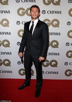 Dashing good looks! Actor Scott Eastwood, 30, cut a suave figure as he led the arrivals at GQ Australia's Men Of The Year Awards in Sydney on Wednesday