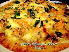 Shrimp, Garlic & Pesto Pizza