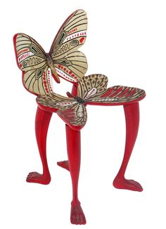 Butterfly Chair Sculpture by Pedro Friedeberg   From a unique collection of antique and modern sculptures at https://www.1stdibs.com/furniture/decorative-objects/sculptures/