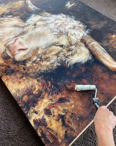 Prints Reproduction Process. *🥰 From original painting, scanning proofing, printing canvas prints, stretcher bars and fittings, putting… Classical Art, Artist Gallery, Pet Portraits, Original Paintings, Canvas Prints, Fine Art, Stretcher Bars, Printing, Cow