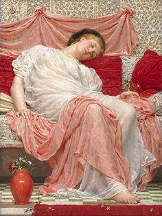 ♥Artist : Albert Joseph Moore (1848–1893)   Jasmine Datebefore 1893 Mediumoil on canvas Dimensions66 x 50 cm