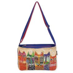 Shop where every purchase helps shelter pets! Laurel Burch Long Neck Cats Medium Crossbody - from $21.00