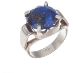 Pre-owned Art Deco Lapis Lazuli Cocktail Ring ($263) ❤ liked on Polyvore featuring jewelry, rings, preowned jewelry, deco jewelry, pre owned jewelry, cocktail rings and lapis lazuli jewelry