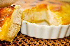 Ingredientes Massa: 2 ½ xícaras de farinha de trigo 150g de manteiga sem sal gelada picada ½ colher de sopa de sal 1 ovos 3 colheres de sopa (45ml) de água (se necessário) Recheio: 500g de frango cozido e desfiadoSaiba Mais +
