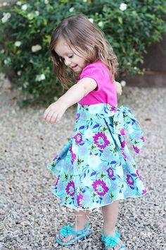 Toddler Twirly T Shirt Dress