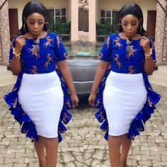 2019 Beautiful Ankara Skirt And Blouse styles for All Women African Fashion Designers, Latest African Fashion Dresses, African Dresses For Women, African Print Dresses, African Print Fashion, Africa Fashion, African Attire, African Wear, African Outfits