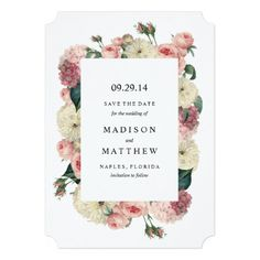 Vintage Garden Save the Date Announcement by Fine and Dandy Paperie