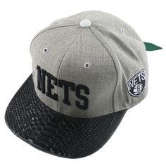 ブラック・ダイヤモンドパイソンMitchell&Ness NBA [Brooklyn Nets]ブルックリン・ネッツ グレー×ブラック UVケリー レザー