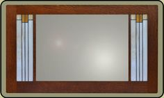 The simple elegance of the Prairie Style is evident in this mirror from Mission Studio.