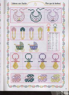 pacifier bib hama perler beads pattern