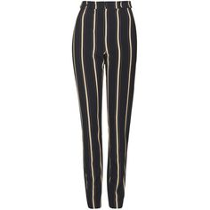 TopShop Tall Stripe Cigarette Trouser (£39) ❤ liked on Polyvore featuring pants, bottoms, trousers, jeans, pantalones, multi, striped pants, topshop pants, cigarette trousers and topshop trousers