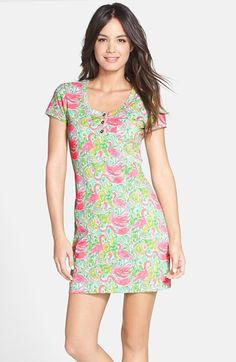 Lilly+Pulitzer®+'Britton'+Floral+Print+Cotton+T-Shirt+Dress+available+at+#Nordstrom