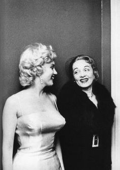 Marilyn met Marlene Dietrich in 1955 at a press conference announcing the formation of Marilyn Monroe Productions.