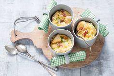 Niet alleen lekker en leuk maar ook supersnel deze quiche in een mok - Recept - Allerhande