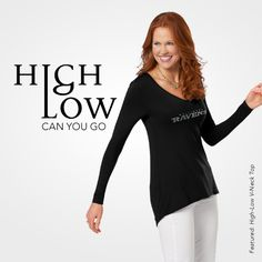 The Hi-Lo V-Neck Top | NFL Fashion Apparel | meesh & mia