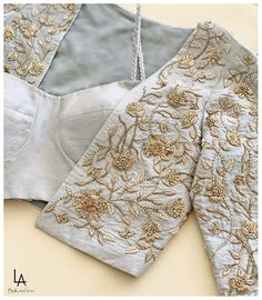 Hand embroidered jacket by Ltd Addition . Embroidered Jacket, Floral Tie, Kimono Top, Jackets, Blue, Tops, Women, Fashion, Floral Lace
