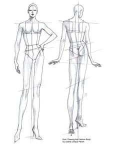 Fashion Sketch Templates | see my E-BOOK series DRAWING FASHION for more body templates. Easy PDF ...