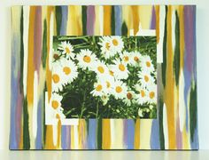 Exciting Wall Art Daisy Photo Painted by JustforJoyCreations, $35.00
