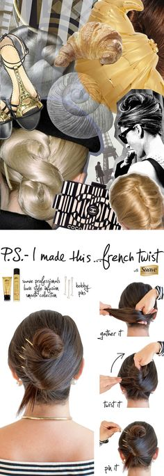 """Create your own spin on the classic French Twist as fast as you can say """"Ooh la la"""" with the Suave Professionals Luxe Style Infusion Smooth Collection. We're taking DIY and making it SIY. We invented..."""