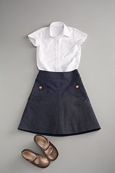 jean skirt by flora and henri - I love this. Is it too school uniform-ish?