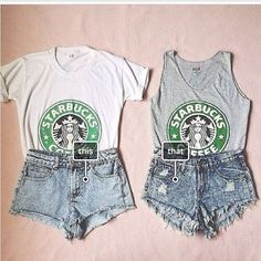Which would you were? #fashion #starbucks