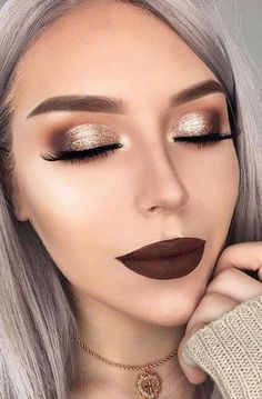 Makeup Tips: 30 DELIGHTING FALL WEDDING MAKEUP IDEAS. Looking for ideas for an autumn bridal look? In our gallery you'll find glamorous fall wedding makeup inspiration, and be sure, you'll definitely like it. Fall Wedding Makeup, Wedding Makeup Looks, Bridal Makeup, Makeup Looks For Weddings, Dramatic Wedding Makeup, White Makeup, Blush Makeup, Eyeshadow Makeup, Makeup Brushes