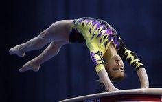 Elisa Meneghini ai campionati europei di ginnastica artistica a Mosca