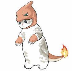 Cute Animal Drawings Kawaii, Cute Cartoon Drawings, Kitten Drawing, Cute Shark, Cute Creatures, Cute Illustration, Animal Paintings, Beautiful Cats, Crazy Cats