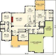 Floor Master Suite, Split Bedrooms ranch home House Plans One Story, Ranch House Plans, Best House Plans, Dream House Plans, House Floor Plans, Story House, Zaha Hadid, Master Suite, Master Closet