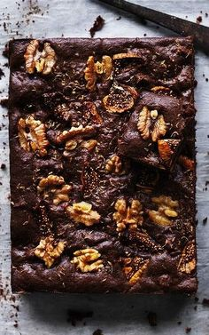 SHIRAZ FIG WALNUT BROWNIE [Dan Lepard] [goodfood] [gluten free]