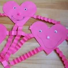 Valentine Heart Craft Person from East Coast Mom..  Love this!! Touches on so many areas of fine motor development. Tracing and folding for fine motor control, and scissor skills and gluing for those school age kids:)