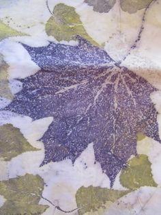 Crimson Maple and Grey Birch on pimatex COTTON! Amelia Poole, Ecouture Textiles