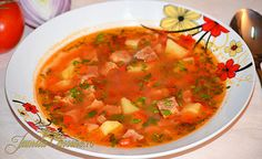 What do you do when waiting for a big storm to hit? Make homemade salsa! Hungarian Recipes, Romanian Recipes, Hungarian Food, Soup Recipes, Healthy Recipes, Romanian Food, Homemade Salsa, Food Videos, Carne