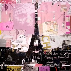 Plan de Paris - collage by Derek Gores