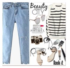 """Cool Style"" by lillili25 ❤ liked on Polyvore featuring MAC Cosmetics, 3.1 Phillip Lim, Givenchy, Urban Decay, StreetStyle, Summer, denim, stripes and urbanlook"