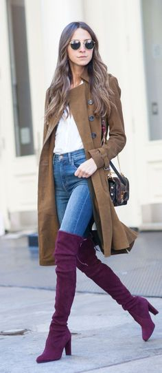 How to wear tall boots with jeans mens Cozy Winter Outfits, Cold Weather Outfits, Winter Fashion Outfits, Autumn Winter Fashion, Fall Outfits, Cute Outfits, Winter Style, Boot Outfits, Winter Clothes