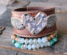 Stacked bohemian bracelets from www.everdesigns.com