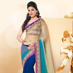 #Blue #GeorgetteSaree with Blouse