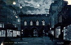 Another moonlight view of the High Street, Southampton